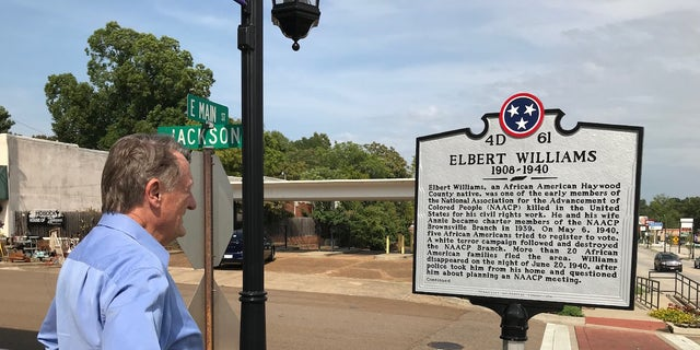 Jim Emison has worked for several years to uncover the circumstances surrounding the murder of Elbert Williams. Emison attended a ceremony along with Williams' relatives to install a memorial plaque in downtown Brownsville in 2015.