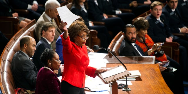 Jan. 6, 2017: resp. Maxine Waters, D-California, objected to the election college ballot in writing and called on a senator to join the opposition during a joint congressional ballot session on Capitol Hill in Washington.
