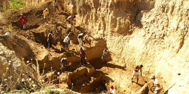 The Christmas River dig site in Madagascar (Credit: ZSL)