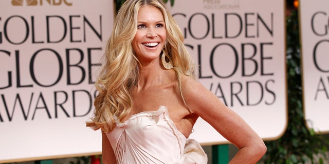 Elle Macpherson celebrated Valentine's Day with a shoutout to the birth of her first son, Flynn.