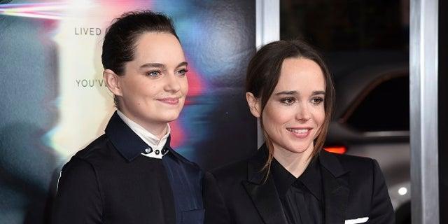 Actress Ellen Page (right) and her partner, dance teacher Emma Portner (left).