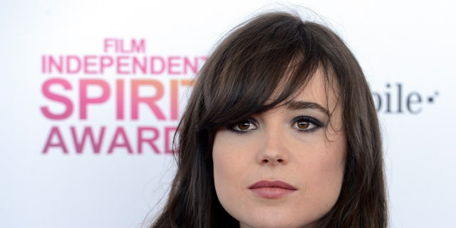 February 23, 2013. Ellen Page arrives at the 2013 Film Independent Spirit Awards in Santa Monica, California.