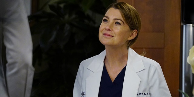 "Ellen Pompeo as Meredith Grey on ""Grey's Anatomy."""