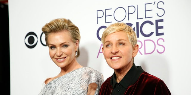 Ellen DeGeneres with wife Portia de Rossi. Their home was burglarized on July 4 in Montecito.