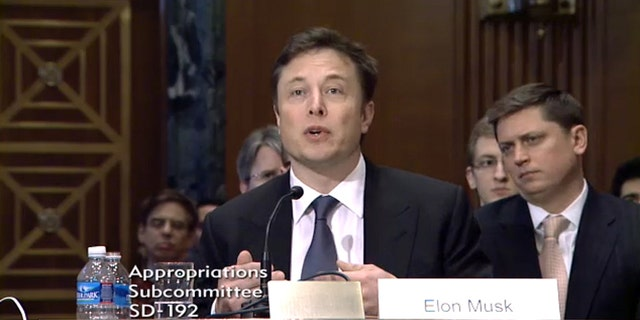 SpaceX CEO Elon Musk testified before the U.S. Senate Appropriations Subcommittee on Defense committee on March 5, 2014.