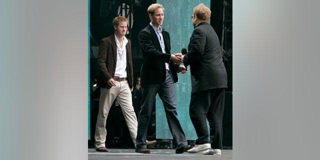 "Elton John said Prince William and Harry both ""seem to be ecstatically happy."""
