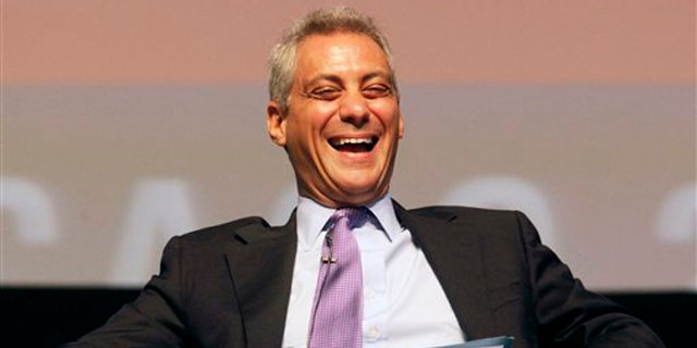 In this April 27 file photo, White House Chief of Staff Rahm Emanuel laughs during the sixth annual Richard J. Daley Global Cities Forum in Chicago. (AP Photo)