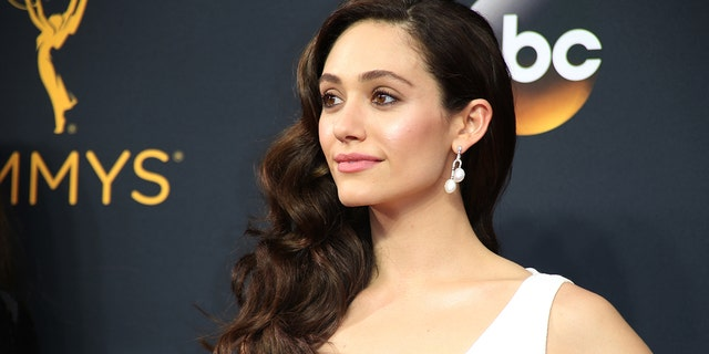 """Actress Emmy Rossum from the Showtime series """"Shameless"""" arrives at the 68th Primetime Emmy Awards in Los Angeles, California U.S., September 18, 2016."""