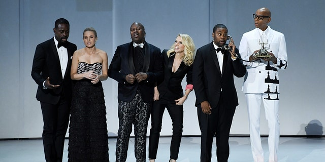 The stars took the stage to open the Emmy Awards with a song about diversity.