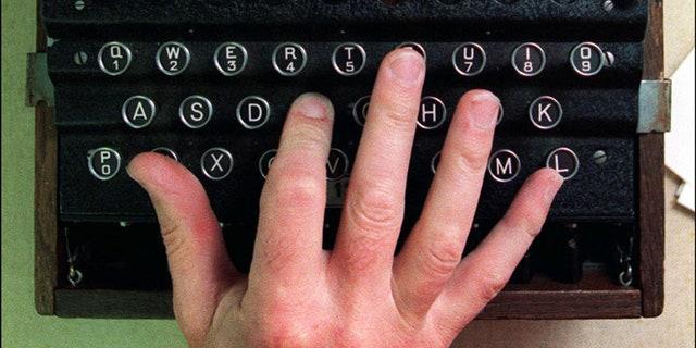 The Enigma Machine, a German World War II encryption device.