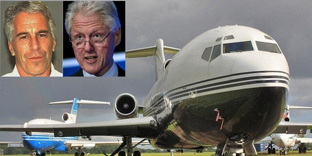 Epstein, (l.), and Clinton, (r.), flew dozens of times on the billionaire's jet, dubbed