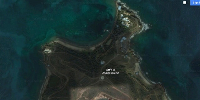 Epstein owns the entire 72-acre island.