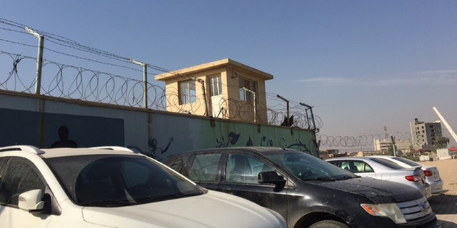A watchtower at the Women and Children's Prison of Erbil. (Photo: Hollie McKay/FoxNews.com)