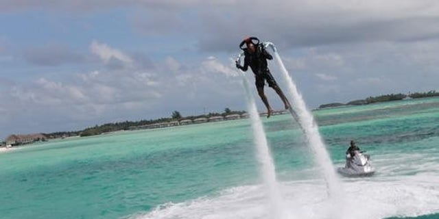 The jetpack in action.