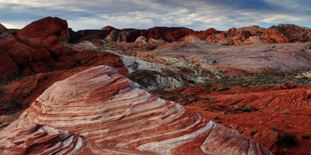 Valley of Fire State Park is a popular Nevada tourist attraction.
