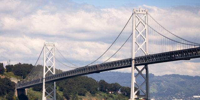 Oakland Bay Bridge between San Francisco and Oakland, California