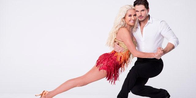 """Erika Jayne and her """"Dancing With the Stars"""" partner Gleb Savchenko."""