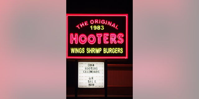 Neon sign at the original 1983 Hooters Restaurant in Clearwater, Florida, USA