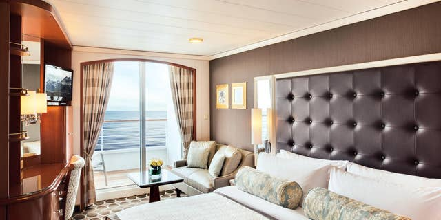 Inside one of the Serenity's luxuriously appointed suites.