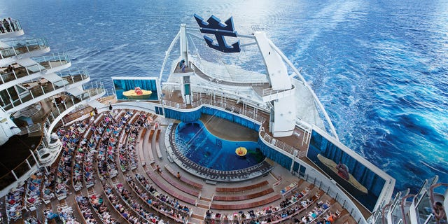 The larger-than-life AquaTheater seen from above.