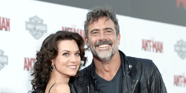 Hilarie Burton, left, with husband and actor Jeffrey Dean Morgan.