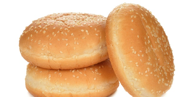 Buns for burgers isolated on white background