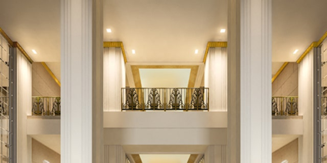 A rendering of the Lexington Avenue entryway.