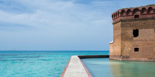 Garden Key on Dry Tortugas islands off the coast of Key West, Florida Keys, Florida USA.