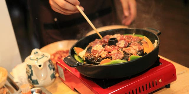 Hungry customers can warm up with traditional Japanese and Thai dishes.