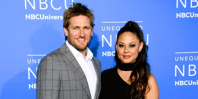 """""""Top Chef Juniors"""" co-hosts Curtis Stone, left, and Vanessa Lachey attend the NBCUniversal Network 2017 Upfront at Radio City Music Hall on Monday, May 15, 2017, in New York."""