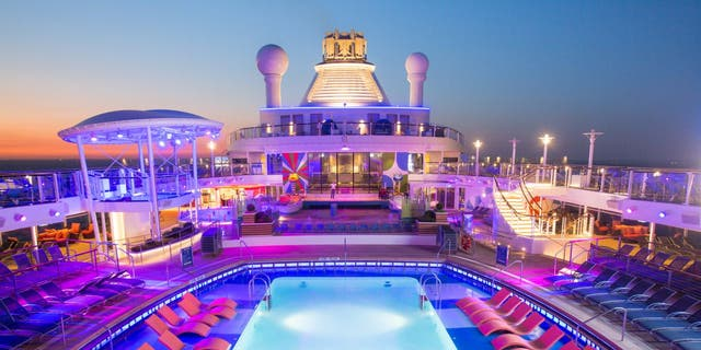 The pool area on Anthem of the Seas.