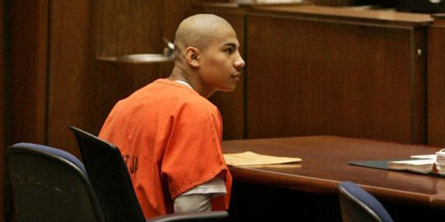 Pedro Espinoza is shown in court in 2008. He was later convicted of killing Jamiel Shaw.