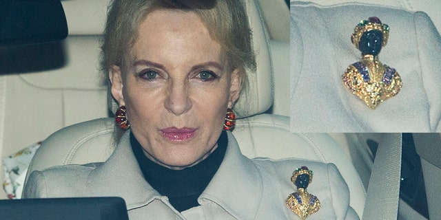Blackamoor art and jewelry romanticizes slavery and is considered racially insensitive today. The brooch worn by Princess Michael of Kent (pictured) featured a black figure donning a gold headdress and robe.