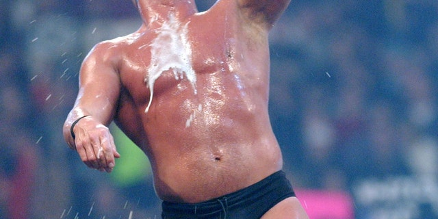 Stone Cold Steve Austin at Wrestlemania X8 during WWF Wrestlemania X8 at Sky Dome in Toronto, Ontario, Canada in 2002.