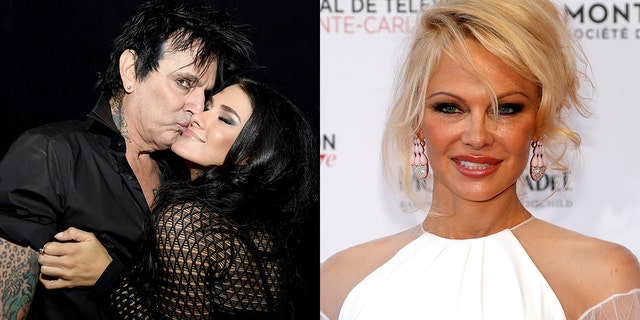 From l-r: Tommy Lee, 55, is engaged to Brittany Furlan, 31. Lee was previously married to Pamela Anderson.