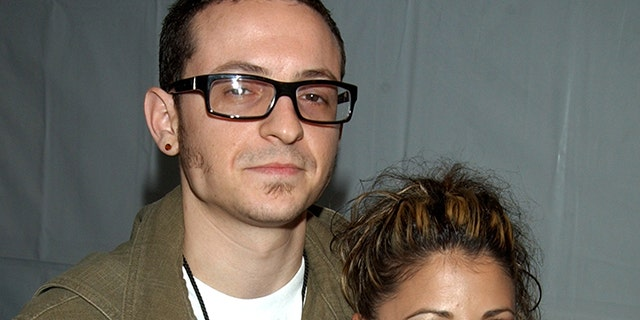 Chester Bennington and his ex-wife Samantha in 2003.