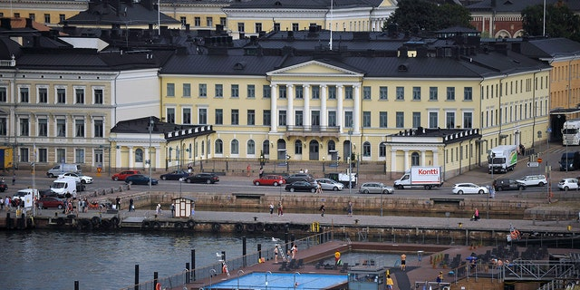 The presidential palace in Helsinki is the site of the historic talks