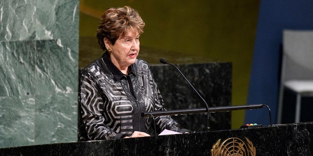 Eva Lavi is the youngest person saved by the legendary Schindler, who is credited with saving the lives of at least 1,200 Jews during the Holocaust. Now, at 81 years old, she stood proudly at the iconic General Assembly green and black marble podium to address the General Assembly's tribute to the victims and survivors of that dark period in human history.