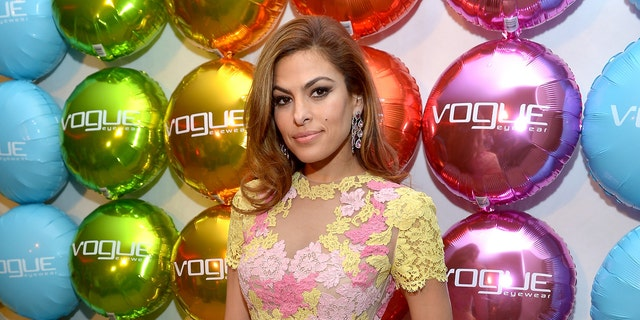 Actress Eva Mendes attends Vogue Eyewear and Eva Mendes celebrate the launch of The Spring/Summer Communications Campaign at Simon House on March 13, 2013, in Beverly Hills, Calif.