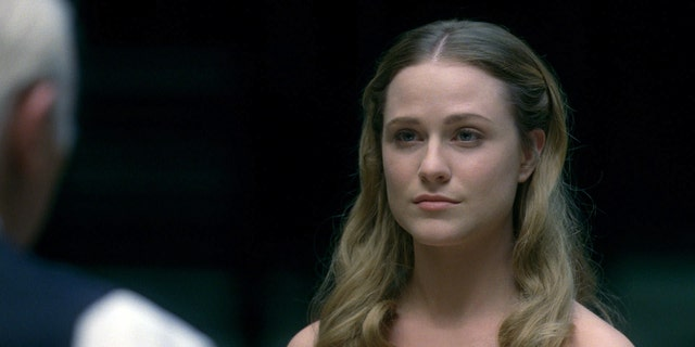 "Evan Rachel Wood as Dolores in ""Westworld."""