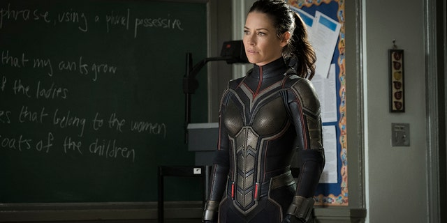 "This image released by Marvel Studios shows Evangeline Lilly in a scene from ""Ant-Man and the Wasp."""