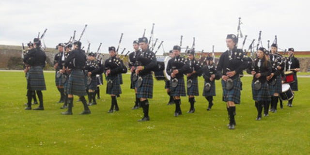 Youth band from Inverness Scotland entertains Star Legend passengers at private event at Fort George.