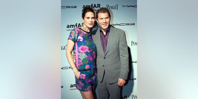 Actress Stephanie March and her husband, chef Bobby Flay, attend the amfAR Inspiration Miami Beach Party at Soho Beach House in Miami Beach, Florida December 6, 2012.   REUTERS/Robert Sullivan   (UNITED STATES - Tags: ENTERTAINMENT SOCIETY PROFILE) - RTR3BAT2