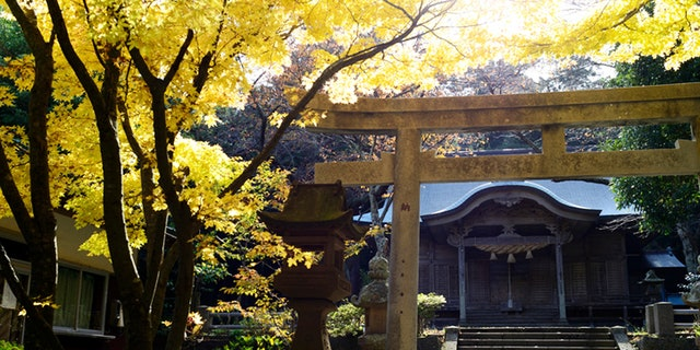 A Shinto shrine in the Japanese Oki Islands.