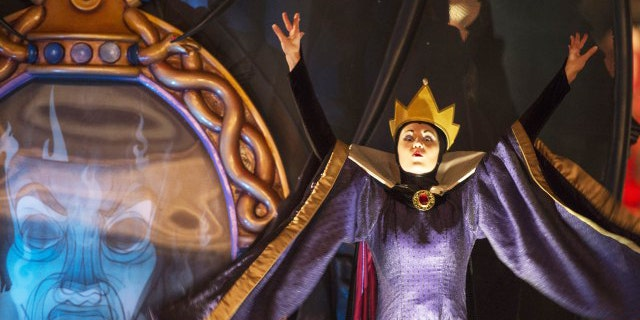 The Evil Queen from Snow White makes a rare appearance during Disney's Halloween party.