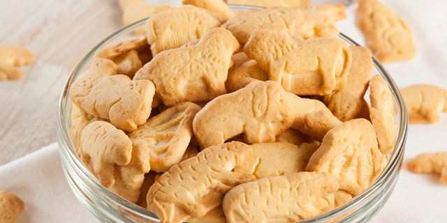 Crunchy Lemon Animal Cracker Cookies on a Background