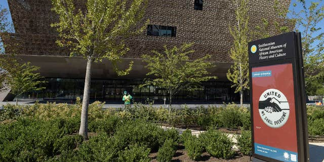 The exterior of the Smithsonian Institution's National Museum of African American History and Culture.