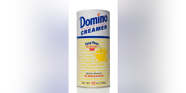 Domino Non-Dairy creamer dispenser 12 OZ container. Domino brand is owned by American Sugar Refining Inc.