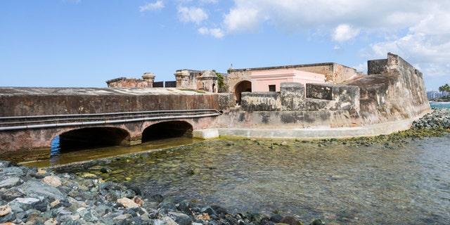 """""""FortA-n de San GerAnimo del BoquerAn at Condado Lagoon in San Juan, Puerto Rico."""""""