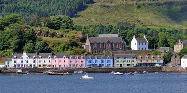 View of Portree, Scotland aboard the Windstar Star Legend.